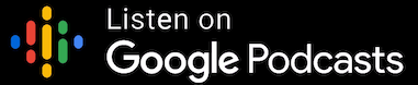 audio and voice google podcasts badge black background
