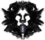 guitar music_among lions logo_lionhead with microphone